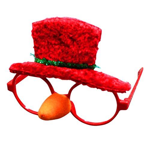 LAEMILIA Weihnachten Lustig Brille Kostüm Glasses Halloween Party Zubehör (D)