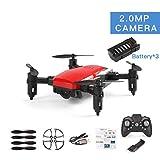 Tree-on-Life LF606 3 Batteries Drone avec 720P Caméra FPV Quadricoptère Pliable Drones RC HD Altitude Tenir Mini Drone Enfants Enfant Jouets