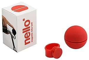 Palomar Nello - Campanello Bici Magnetico Tre Suoni Diversi, Colore Rosso