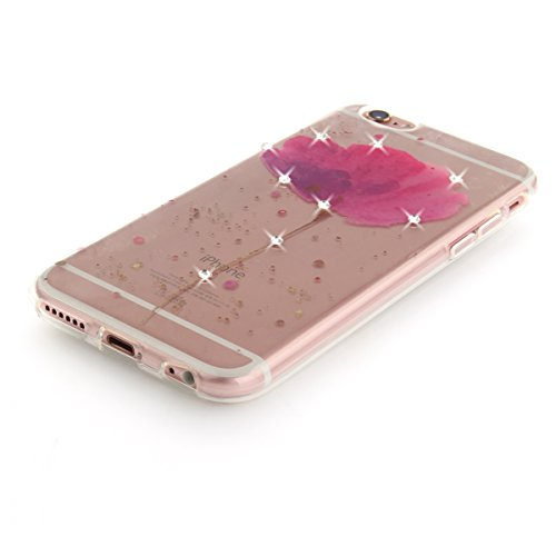 """MOONCASE iPhone 6/iPhone 6s Coque, [Diamond Painting] Flexible Silicone Bling Housse Ultra Slim Anti-choc Protection Case pour iPhone 6/iPhone 6s 4.7"""" Dandelion Orchid"""