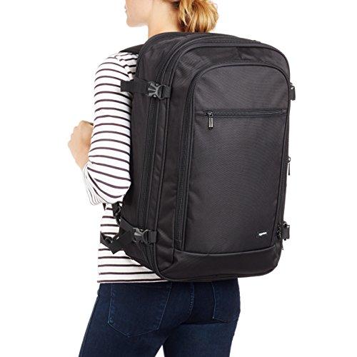 AmazonBasics 46 Ltrs Carry-On Travel Backpack, Black Image 3