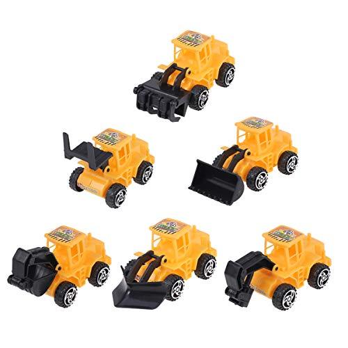 Toyvian 6 stücke Mini BAU LKW Engineering Fahrzeug Spielzeug LKW Modell Spielzeug Kuchen Tooper Dekoration