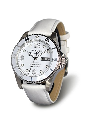 Oxygen White Bear 40 Unisex Quartz Watch with White Dial Analogue Display and White Leather Strap EX-D-WHI-40-CL-WH