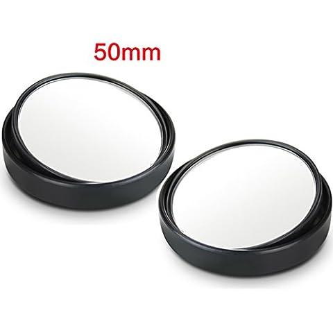 LJ Miroir arrière de voiture Petit miroir rond Deux pièces 360 degrés Diamètre 5cm Objectif grand angle réglable Astern Auxiliaire HD Blind Spot Mirror ( Couleur : Noir )