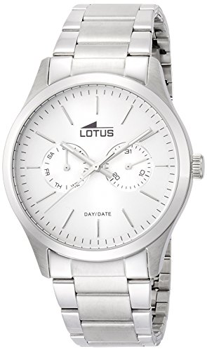 Lotus Men's Quartz Watch with Silver Dial Analogue Display and Silver Stainless Steel Bracelet 15954/1