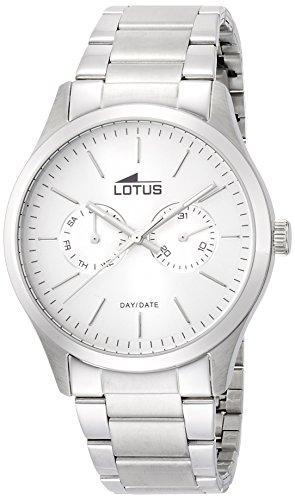 Lotus 15954/1 - Reloj de cuarzo para hombre, con correa de acero inoxidable, color plateado