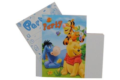 Unbekannt 10 TLG. Set -  Disney Winnie The Pooh  - Einladungskarten mit Umschlag - Party Einladung Karte Karten - Kindergeburtstag - Mädchen Jungen Teddy Bär Tigger F..
