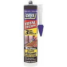Ceys M52515, Masilla poliuretano ms-tech 290ml, color Negro