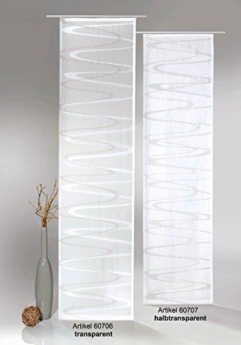 fashion and joy Flächenvorhang Modern Wave inkl. Universal-Zubehör HxB 245x60 cm in taupe braun transparent - Schiebegardine Web-Scherli Welle Gardine Typ413