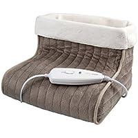 Medisana FWS 60257, Calienta Piés, con protección sobre el calentamiento, Color Marron y Blanco