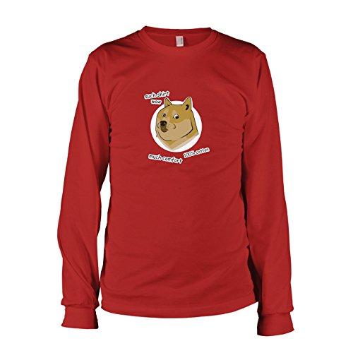 TEXLAB - Such Shirt Doge - Langarm T-Shirt, Herren, Größe L, rot