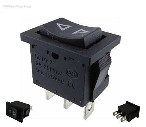 R Potenciometros Mandos de Control 10 Pcs Negro Metal 6mm Moleteado eje insercion Dia TOOGOO