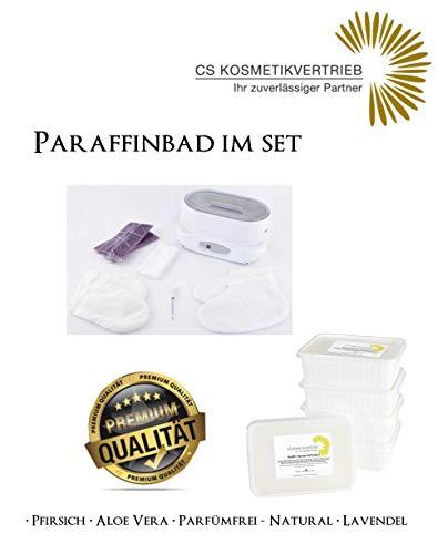 Paraffinbad/Wachserwärmer 3L Digital im Set inkl. 4x 750g Paraffinwachs Parfümfrei & Zubehör