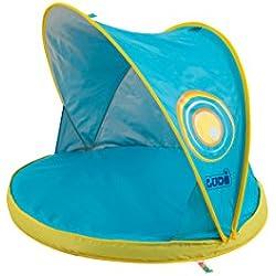 LUDI - Pataugeoire, bassin pour bébé à la plage. Tissu du auvent avec Protection UV 50. Adapté dès la naissance. Fournie avec un sac de transport. Dimensions : 80 x 80 x 70 cm - réf. 2201