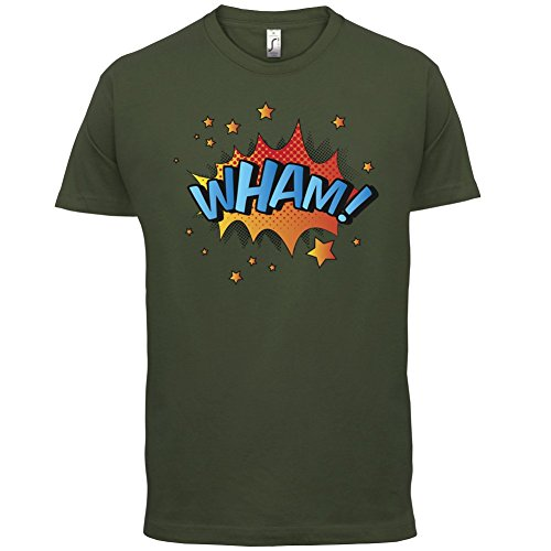 Superheld Wham - Herren T-Shirt - 13 Farben Olivgrün