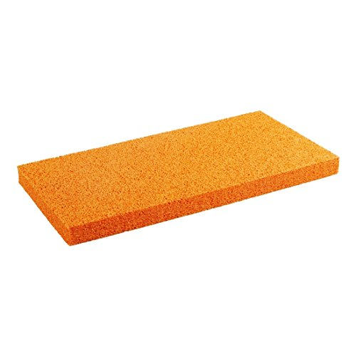 SCHWAMMGUMMIBELAG 280 x 140 x 8 mm, orange, fein