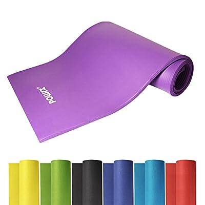 POWRX Gymnastikmatte inkl. Trageband + Workout Gratis | Hautfreundliche Trainingsmatte Yogamatte Phthalatfrei 190 x 60 Oder 100 x 1.5 cm | Versch. Farben