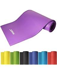Esterilla de Yoga Pilates Fitness 190 x 60 x 1,5 cm - Yoga Pilates Fitness Colchoneta (Violeta)
