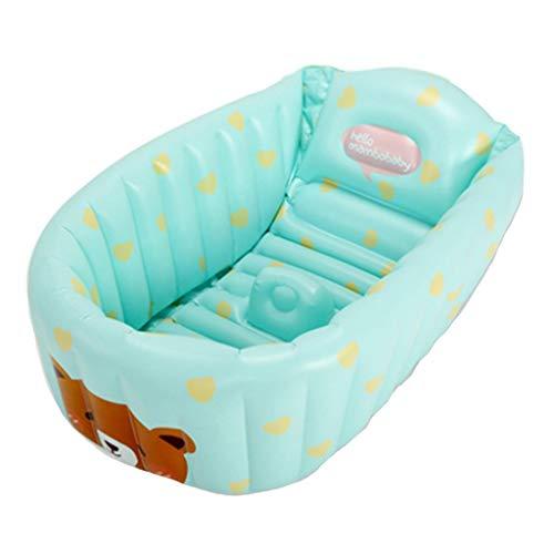 FGF Aufblasbare Badewanne Kinder Falten Baby Schwimmbad Aufblasbare Badewanne Verdickung Neugeborenen Kinder Falten Tragbares Bad 90 cm * 45 cm * 28 cm 123 (Color : B)