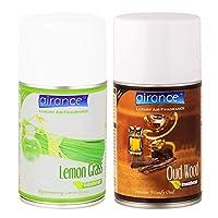Airance Room Freshner Spray Aroma Perfume Refill Lemon Grass & Oud Wood - 250 ML - Pack of Two - Fit All Machines Using 250 ML / 300 ML Bottles