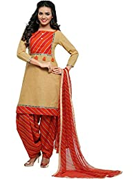EthnicJunction Women's Dress Material (EJ1180-88010_Light French Beige_Free Size)