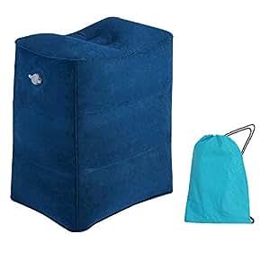 oreiller repose pieds pour voyage en avion wetong coussin de voyage gonflable portatif oreiller. Black Bedroom Furniture Sets. Home Design Ideas