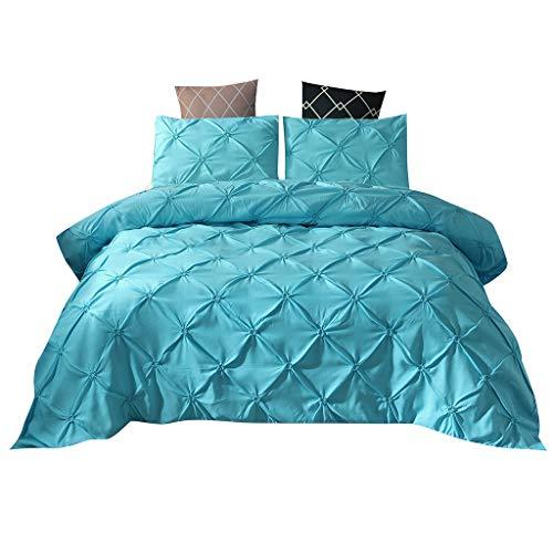 Bettwäsche-Set mit Bettdeckenbezug und 2 Kissenbezügen, Himmelblau, 3 Stück Quilt cover :200x230cm Pillowcase 51x67x2 himmelblau
