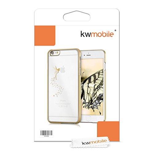 kwmobile Hülle für Apple iPhone 6 Plus / 6S Plus - Backcover Case Handy Schutzhülle - Cover klar Fee Design Gold Transparent Fee Gold Gelb Transparent