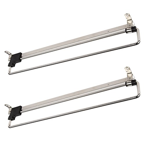 2 x SO-Tech® Percha Soporte Colgador Extraíble Perchero Telescópico para Armario 350 mm