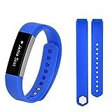 Bracciale sportivo in silicone, Happytop cinturino per orologio da polso per Fitbit alta HR Smart Watch, Uomo, Sky Blue, S
