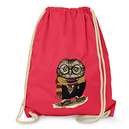 Texlab Harry Owl - Turnbeutel, rot