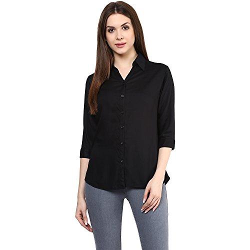 Mayra Women's Rayon Shirt (1608T09547_XL , Black )