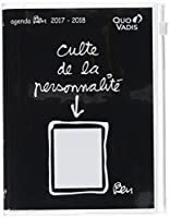 Quo Vadis Ben Text Zip 0291577Q Agenda scolaire Journalier avec Poche 12 x 17 cm Année 2017-2018 Noir