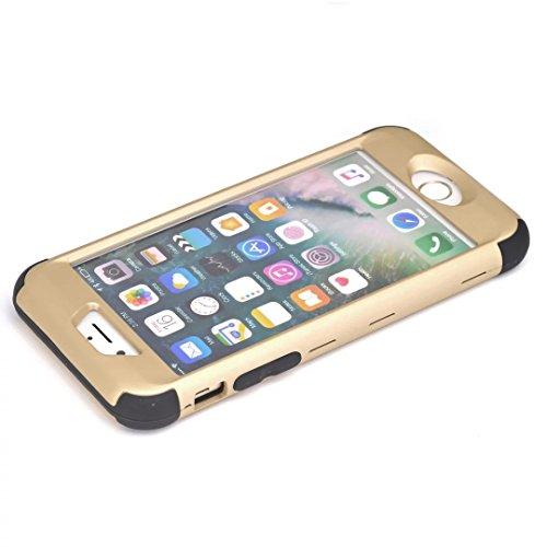 iPhone 7 Coque,Lantier Frosted Matte Finish design Angel Eyes Series Durable 3 en 1 Combo double couche antichoc Defender couverture arrière pour Apple iPhone 7 4.7 pouces Or Rose+Rose Gold+Black