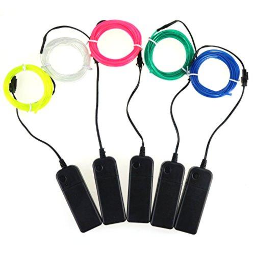 EL Wire EL Kabel Lichtschnur 5m Elektrolumineszente Tragbare Dekoration Halloween (Kostüm Mädchen Jägermeister)