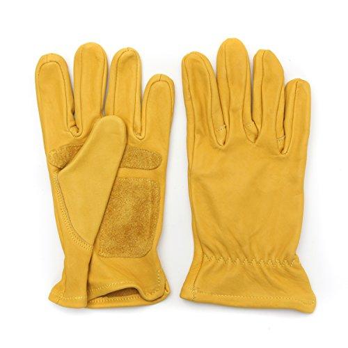 (Wooya Leder Gelbe Motorrad-Multifunktions-Renn Handschuhe M L XL XXL-XL)