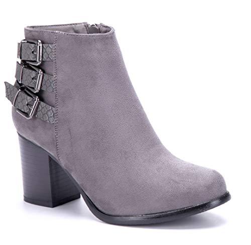 Schuhtempel24 Damen Schuhe Pantoletten Sandalen Sandaletten flach Zierkette