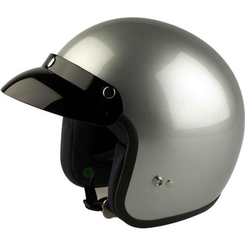 VIPER RS-04 - JETHELM MOTORRAD MOTORROLLER HELM - EINFARBIG - Silber - XS