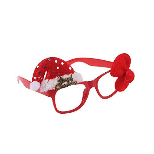 Kostüm Kinder Weihnachtsmann Muster (Tinksky Weihnachtsfeier Brillen Lustige Sonnenbrillen Fanci-Frames Neuheit Brillen Weihnachtskostüm Ornamente Geschenke ohne)