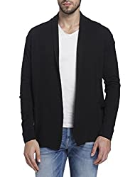Jack & Jones Mens Cotton Cardigan (12121762_Black_X-Large)
