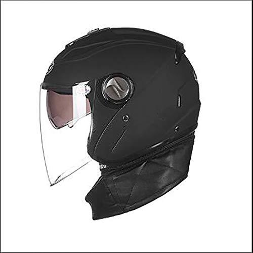 Für alles dankbar Schutzhelm Motorradhelm Reithelm Double Lens Half Helm Abnehmbarer Kragen Vier...