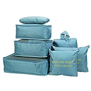 7 Stücke Wasserdichte Reise Aufbewahrungsbeutel Kleidung Verpackung Cube Gepäck Organizer Beutel