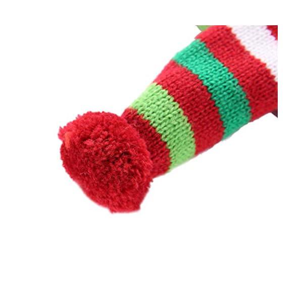 POPETPOP Elegante Bufanda para Mascotas, Bufanda de Navidad Ajustable para Perrito, Baberos Accesorios para Perros y… 5