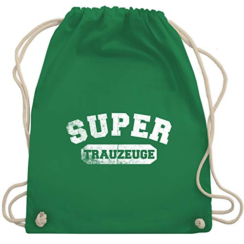 hied - Super Trauzeuge Vintage - Unisize - Grün - WM110 - Turnbeutel & Gym Bag ()