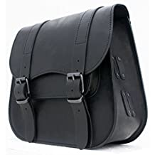 e0501bb9f4 Borsa Laterale LEDRIE Singola Vera Pelle Premium Nera Universale Piccola  Small 18L Litri Saddlebag Leather x