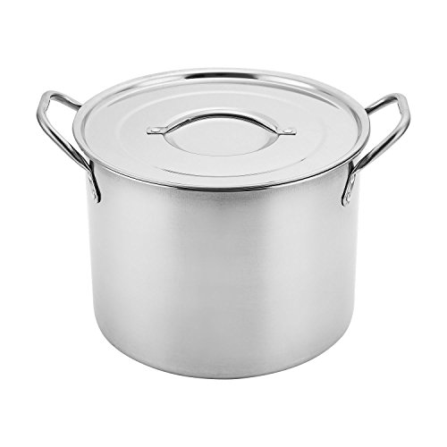 Aramco AI14437-6 Alpine Cuisine Gourmet Stock Pot, 6.5-Quart, Stainless Steel