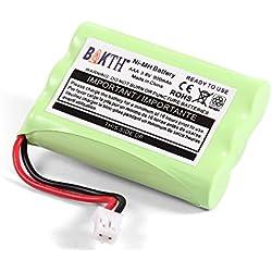 BAKTH Batterie 3.6v 900mAh pour Motorola Moniteurs de Bébé, pour Écoute-bébé Babyphone MBP18 MBP27T MBP33 MBP33PU MBP33BU MBP36 MBP36PU MBP35 MBP41 MBP43 (Non Compatible avec MBP33S et MBP36S)