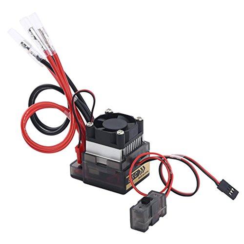 MagiDeal Spazzolato 320a Regolatore di velocità Elettronico 7.2v-16v Esc per Rc con Dissipatore di Calore