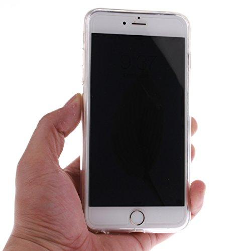 iPhone 6S Plus Coque, iPhone 6 Plus Coque, Lifeturt [ Une fleur ] Ultra Slim Etui TPU Coque Transparent Silicone Coque TPU Housse Clair Gel Back Cover Etui Doux Bumper Case,Flexible Souple Housse Soft E02-Ne touchez pas mon téléphone31845
