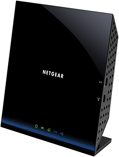 NETGEAR D6200-100PES AC Modem-Router (ADSL2+ (Annex A, Annex J), Dual-Band 5-Port Gigabit, 4x LAN, 1x WAN, 2x USB 2.0) nicht für Deutschland